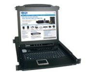 "Tripp Lite 8-Port Rack Console KVM Switch w/ 17"" LCD PS/2 1U - KVM switch - 8 ports - rack-mountable"