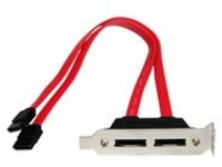 StarTech.com 2 Port Low Profile SATA to eSATA Plate Adapter (ESATAPLT2LP) - SATA internal to external panel - 30.5 cm