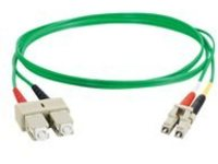 C2G 3m LC-SC 62.5/125 OM1 Duplex Multimode PVC Fiber Optic Cable - Green - patch cable - 3 m - green