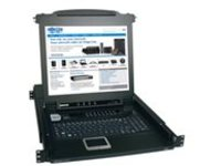 "Tripp Lite 16-Port Rack Console KVM Switch w/ 17"" LCD PS/2 1U - KVM switch - 16 ports - rack-mountable"