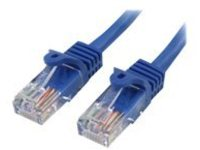 StarTech.com Cat5e Ethernet Cable15 ft - Blue - Patch Cable - Snagless Cat5e Cable - Network Cable - Ethernet Cord - Ca…
