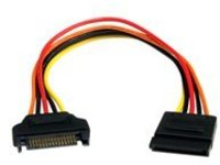 StarTech.com 8in 15 pin SATA Power Extension Cable - 8 SATA power Extension Cable - 8 SATA power Extension cord - power…