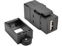 Tripp Lite USB 2.0 Keystone Panel Mount Coupler All-in-One F/F USB-A Black - USB adapter