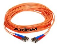 Axiom LC-LC Multimode Duplex OM2 50/125 Fiber Optic Cable - 25m - Orange - network cable - 25 m