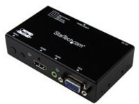 StarTech.com 2x1 VGA + HDMI to HDMI Switch / Selector Box - 1080p Multi Video Input Automatic Switcher - 2 Computers In…