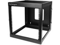 StarTech.com 12U Hinged Open Frame Wall Mount Server Rack - 4 Post 22 in. Depth Network Equipment Rack Cabinet - 140 lb…