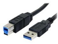 StarTech.com 3 ft / 91cmm Black SuperSpeed USB 3.0 Cable A to B - USB 3 A (m) to USB 3 B (m) (USB3SAB3BK) - USB cable -…