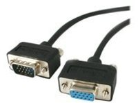 StarTech.com 15 ft Low Profile High Res Monitor VGA Extension Cable M/F - VGA extension cable - 4.6 m