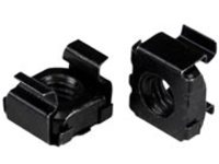 StarTech.com M6 Cage Nuts - 100 Pack, Black - M6 Mounting Cage Nuts for Server Rack & Cabinet (CABCAGENT62B) cage nuts