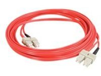 C2G 2m SC-SC 62.5/125 OM1 Duplex Multimode PVC Fiber Optic Cable - Red - patch cable - 2 m - red