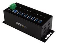 StarTech.com 7-Port Industrial Grade USB 3.0 Hub with ESD & 350W Surge Protection - Rack mountable metal USB port expan…