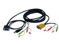 Tripp Lite 10ft VGA / USB / Audio Cable Kit for B006-VU4-K-R KVM Switch 10' - video / USB / audio cable - 3 m