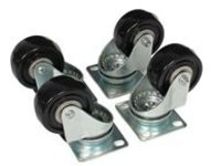 StarTech.com 4-Piece Caster Kit for Open Frame Rack - TAA Compliant Heavy Duty Casters - Includes Installation Hardware…