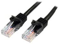 StarTech.com 1m Black Cat5e / Cat 5 Snagless Patch Cable - patch cable - 1 m - black