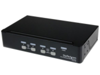 StarTech.com 4 Port Professional VGA USB KVM Switch with Hub - 1U Rack-mountable KVM Switch (SV431USB) - KVM switch - 4…