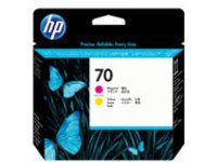 HP 70 - Yellow, magenta - printhead - for DesignJet HD Pro MFP, Z2100, Z3100, Z3200, Z5200, Z5400; Photosmart Pro B8850, Pro B9180