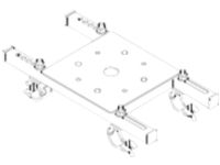 Barco projector frame floor adapter