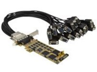 StarTech.com 16 Port PCI Express Serial Card - High-Speed PCIe Serial Card - expansion module
