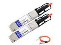 AddOn 50m Industry Standard QSFP+ AOC - network cable - 50 m