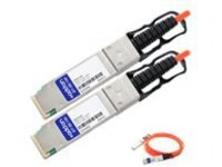 AddOn 10m Extreme Compatible QSFP+ AOC - network cable - 10 m