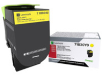Lexmark X317 - yellow - original - toner cartridge - LCCP, LRP