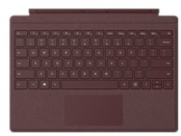 Microsoft Surface Pro Signature Type Cover - keyboard - with trackpad, accelerometer - QWERTY - US - burgundy