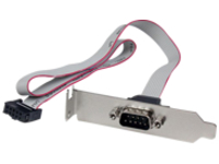 StarTech.com 1 Port 16in DB9 Serial Port BRacket to 10 Pin Header - Low Profile - low profile DB9 Header - DB9 bRacket …
