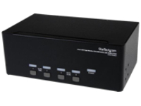 StarTech.com 4 Port Triple Monitor DVI USB KVM Switch with Audio & USB 2.0 Hub - Multi Monitor KVM - USB DVI KVM Switch…