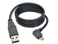 Tripp Lite 3ft USB Charging Cable Reversible A to Right Angle 5Pin Micro B 3' - charge-only cable - 91 cm
