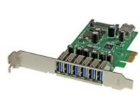 StarTech.com 7 Port PCI Express USB 3.0 Card - Standard & Low-Profile - SATA Power - UASP Support - 1 Internal & 6 Exte…