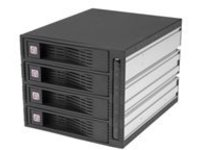 StarTech.com 3.5in Trayless Hot Swap SATA Mobile Rack Backplane - 4 Drive Removable Drive Enclosure (HSB430SATBK) - sto…