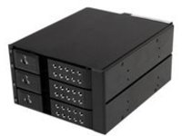 StarTech.com 3-Bay Hot Swap Backplane for 3.5in SAS II/SATA III - 6 Gbps HDD - Aluminum Trayless Mobile Rack Backplane …