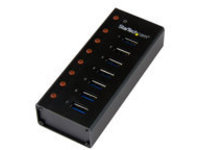 StarTech.com 7 Port USB 3.0 Hub (5 Gbps) - Metal Enclosure - Desktop or Wall Mountable - Rugged & industrial Powered US…