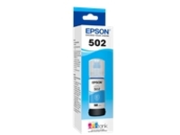Epson 502 With Sensor - cyan - original - ink tank