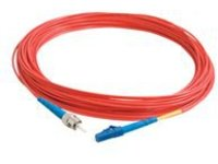 C2G 10m LC-ST 9/125 Simplex Single Mode OS2 Fiber Cable TAA - Red - 33ft - patch cable - 10 m - red
