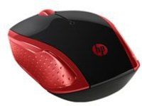 HP 200 - mouse - 2.4 GHz - red
