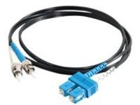 C2G 2m SC-ST 9/125 Duplex Single Mode OS2 Fiber Cable - Black - 6ft - patch cable - 2 m - black