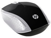 HP 200 - mouse - 2.4 GHz - silver