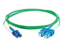 C2G 10m LC-SC 9/125 Duplex Single Mode OS2 Fiber Cable - Plenum CMP-Rated - Green - 33ft - patch cable - 10 m - green