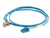 C2G 3m LC-ST 9/125 Duplex Single Mode OS2 Fiber Cable TAA - Blue - 10ft - patch cable - 3 m - blue