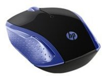 HP 200 - mouse - 2.4 GHz - marine blue