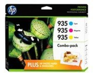 HP 935 - 3-pack - yellow, cyan, magenta - original - ink cartridge
