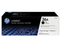 HP 36A - 2-pack - black - original - LaserJet - toner cartridge (CB436AD)