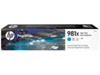 HP 981X - High Yield - cyan - original - PageWide - ink cartridge