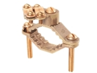 Panduit Structured Ground Mechanical Connectors Bronze Ground Clamp, Heavy Duty, Direct Burial - grounding clamp kit