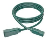 Tripp Lite 6ft Computer Power Extension Cord 10A 18 AWG C14 to C13 Green 6' - power extension cable - 1.83 m