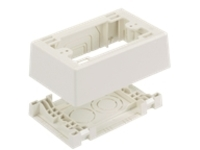 Panduit Single Gang Power Rated Two-Piece Snap Together Outlet Box - cable raceway junction box