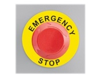 Panduit Emergency Stop label - labels - 25 label(s) - 60 x 60 mm
