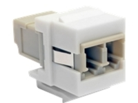 Tripp Lite Duplex Multimode Fiber Coupler, Keystone Jack - LC to LC, White - keystone coupler - white