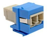 Tripp Lite Duplex Multimode Fiber Coupler, Keystone Jack - LC to LC, Blue - keystone coupler - blue